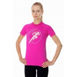 BRUBECK RUNNING AIR PRO koszulka damska amarant