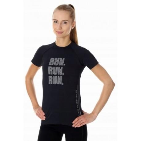 BRUBECK RUNNING AIR PRO koszulka damska czarna