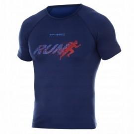 BRUBECK RUNNING AIR PRO koszulka męska granatowa