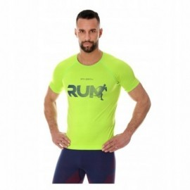 BRUBECK RUNNING AIR PRO koszulka męska neonowa