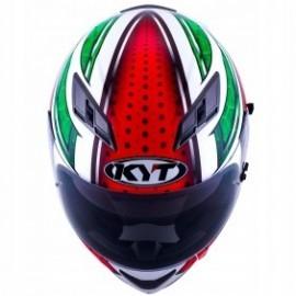 Kask motocyklowy KYT FALCON ALL STARS czerwono-zielony