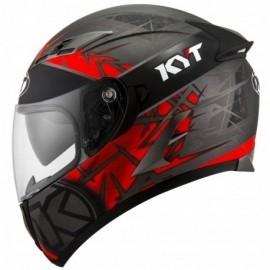 Kask Motocyklowy KYT FALCON2 RIFT czerwony-antracyt
