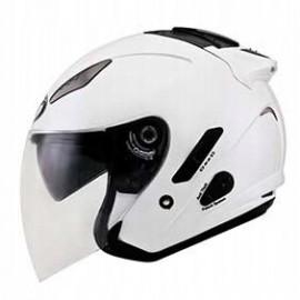 Kask motocyklowy KYT HELLCAT perłowy biały