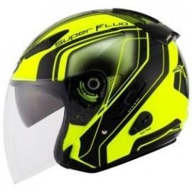 Kask motocyklowy KYT HELLCAT SUPERFLUO żółty