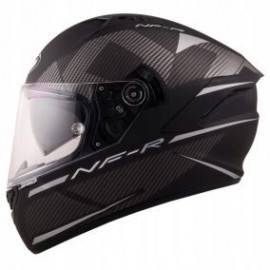 Kask motocyklowy KYT NF-R LOGOS szary