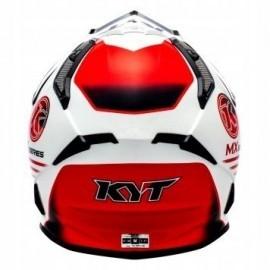 Kask motocyklowy KYT STRIKE EAGLE KMX biało-czerwony
