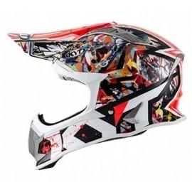Kask motocyklowy KYT STRIKE EAGLE NEW YORK czerwony fluo