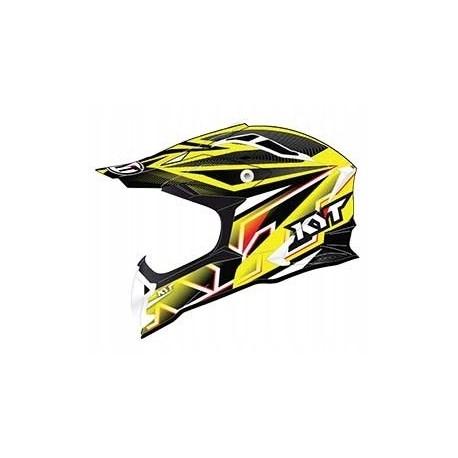 Kask motocyklowy KYT STRIKE EAGLE STRIPE żółty fluo