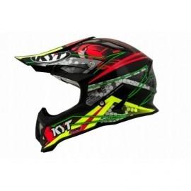 Kask motocyklowy KYT STRIKE EAGLE WEB czerwono-zielono-czarny