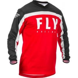Koszulka off road FLY RACING F-16 kolor biały/czarny/czerwony