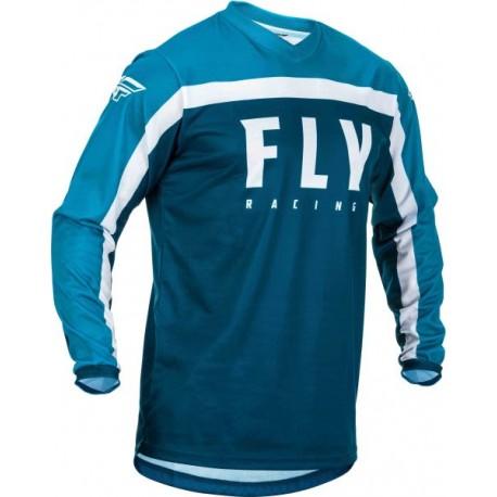 Koszulka off road FLY RACING F-16 kolor biały/niebieski