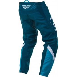 Spodnie cross/enduro FLY RACING F-16 kolor biały/granatowy/niebieski