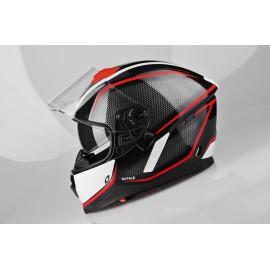 Kask Motocyklowy LAZER RAFALE Rocket czarny/czerwony metaliczny