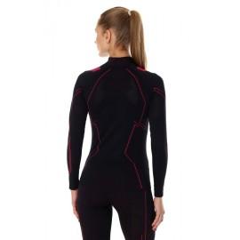 BRUBECK COOLER bluza termoaktywna czarny-czerwony