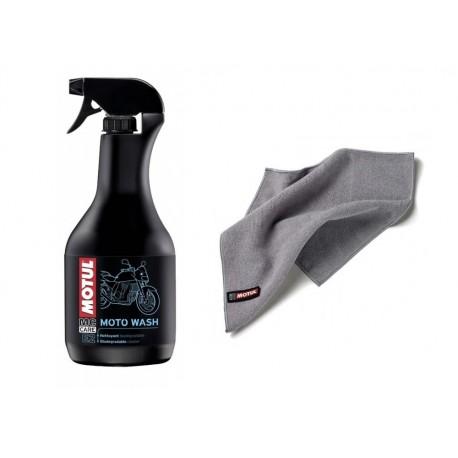 Płyn do mycia motocykla Motul E2 Moto Wash 1L + Ściereczka Motul z microfibry