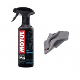 Środek do usuwania insektów Motul E7 Insect Remover 0,4L + Ściereczka Motul z microfibry