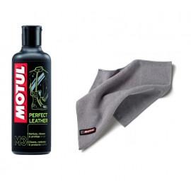Środek do czyszczenia skóry Motul M3 Perfect Leather 250ml + Ściereczka Motul z microfibry