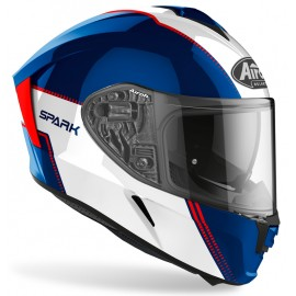Kask integralny AIROH SPARK Flow Blue/Red Gloss