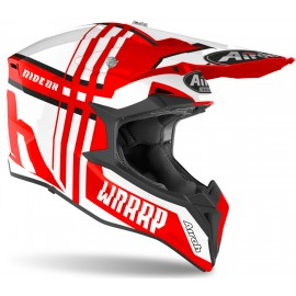 Kask Off-Road AIROH Wraap White/Red Gloss