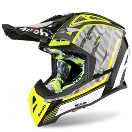 Kask AIROH AVIATOR GLOW ACE CHROME YELLOW