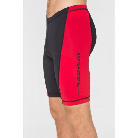 Męskie spodenki rowerowe RACER PRO czarno-czerwone