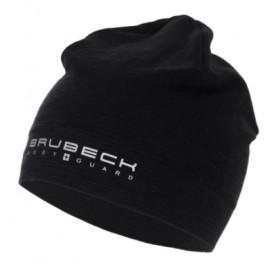 BRUBECK czapka dwuwarstwowa z wełny MERINO ciepła czarna