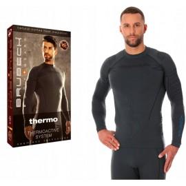 BRUBECK THERMO termoaktywna męska bluza ciepła szara