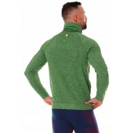 BRUBECK męska bluza termoaktywna sportowa zielona