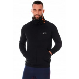 BRUBECK męska bluza termoaktywna sportowa czarna