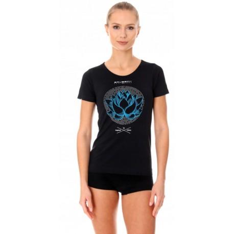 BRUBECK ciepła damska koszulka z krótkim rękawem czarna