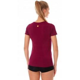 BRUBECK ciepła damska koszulka z krótkim rękawem fioletowa