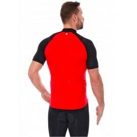 BRUBECK koszulka rowerowa z suwakiem czerwona