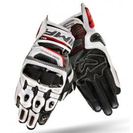 SHIMA XRS-2 BLACK Krótkie sportowe rękawice białe