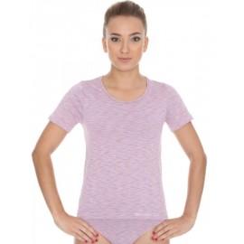 Koszulka damska BRUBECK FUSION bezszwowa różowa