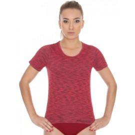 Koszulka damska BRUBECK FUSION bezszwowa czerwona