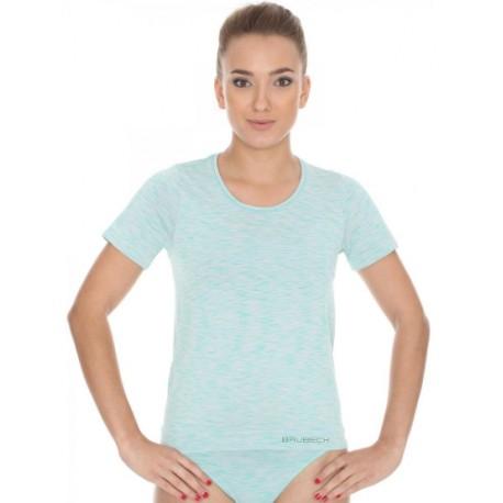 Koszulka damska BRUBECK FUSION bezszwowa zielona