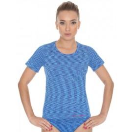 Koszulka damska BRUBECK FUSION bezszwowa niebieska