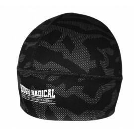 Szybkoschnąca czapka treningowa bieganie CAMO czarna
