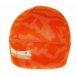Szybkoschnąca czapka treningowa bieganie CAMO pomarańczowa