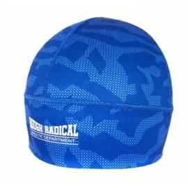 Szybkoschnąca czapka treningowa bieganie CAMO niebieska