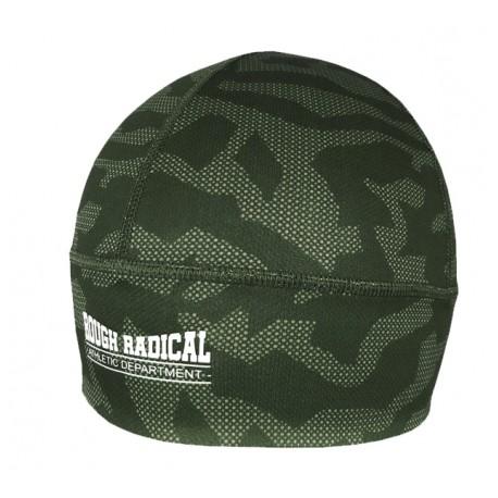 Szybkoschnąca czapka treningowa bieganie CAMO khaki