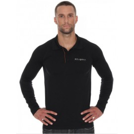 Brubeck LS10620 Koszulka polo PRESTIGE czarna
