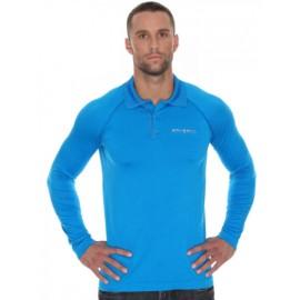 Brubeck LS10620 Koszulka polo PRESTIGE niebieska