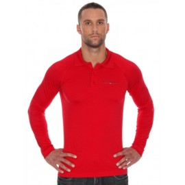 Brubeck LS10620 Koszulka polo PRESTIGE czerwona