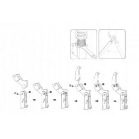Zestaw kluczy hakowych z uchwytem JMP 19-166 mm