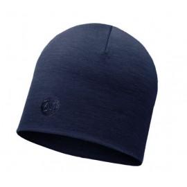 Czapka BUFF HEAVYWEIGHT MERINO WOOL HAT wełniana niebieska