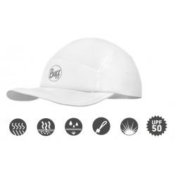 Buff szybkoschnąca czapka do biegania R-SOLID anty UV biała