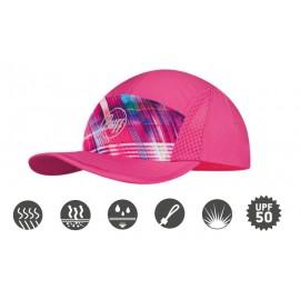 Buff szybkoschnąca czapka do biegania R-SOLID anty UV różowa