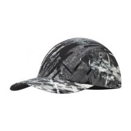 Buff szybkoschnąca czapka do biegania anty UV czarno-szara