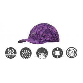 Buff szybkoschnąca czapka do biegania anty UV fioletowa